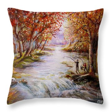 Autumn Peace Throw Pillow by Patricia Schneider Mitchell