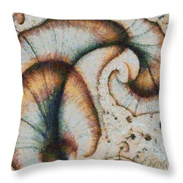 Autumn Peacock Throw Pillow