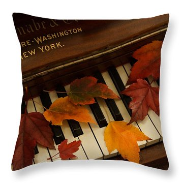 Autumn Piano 14 Throw Pillow