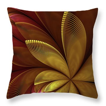 Throw Pillow featuring the digital art Autumn Plant by Gabiw Art