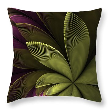 Throw Pillow featuring the digital art Autumn Plant II by Gabiw Art