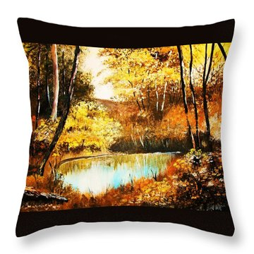 Changing Of The Season Throw Pillow