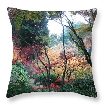 Autumn Portland  Throw Pillow by Marlene Rose Besso
