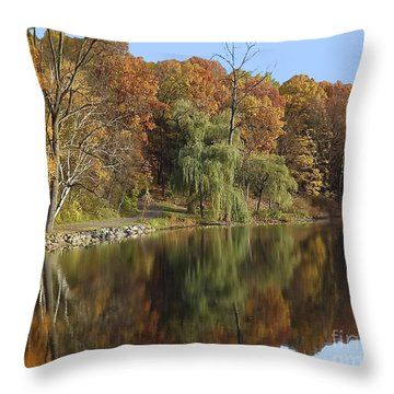 Autumn Reflections Throw Pillow by Bill Woodstock