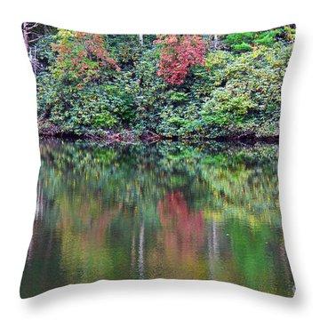 Autumn Reflections Throw Pillow by Melissa Petrey