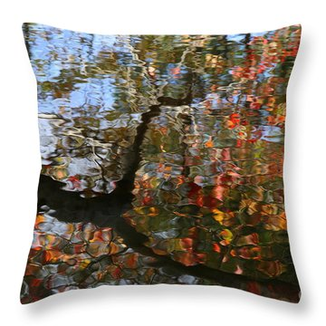 Autumn Reflections  Throw Pillow by Neal Eslinger