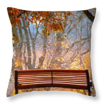 Autumn Retreat Throw Pillow by France Laliberte
