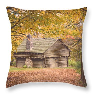 Autumn Retreat Throw Pillow by Sara Frank