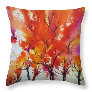 Autumn Riot Throw Pillow