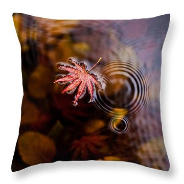 Autumn Ripples Throw Pillow by Mike Reid