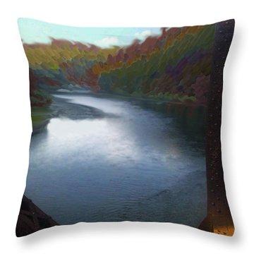 Autumn River Valley  Throw Pillow