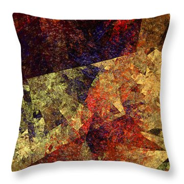 Autumn Road Throw Pillow by Andee Design