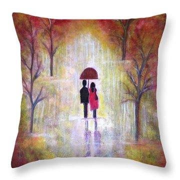 Autumn Romance Throw Pillow
