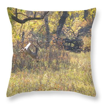 Autumn Run Throw Pillow