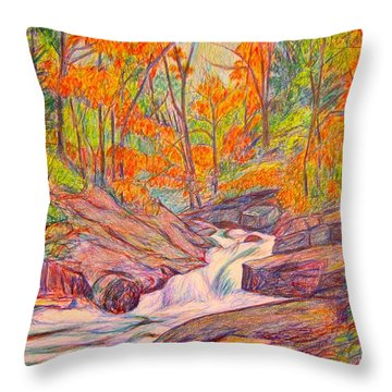 Autumn Rush Throw Pillow by Kendall Kessler