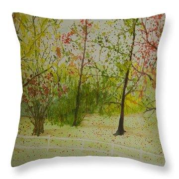 Autumn Scenery Throw Pillow