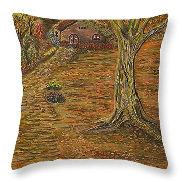 Autumn Sequence Throw Pillow by Felicia Tica