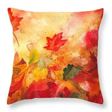 Autumn Serenade  Throw Pillow by Irina Sztukowski
