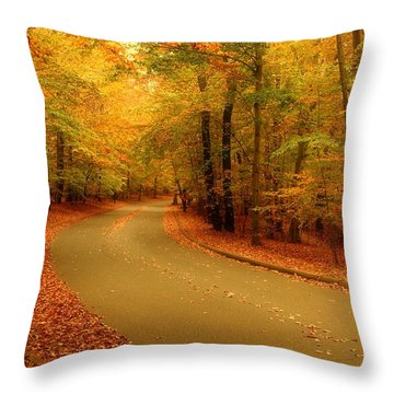 Autumn Serenity - Holmdel Park  Throw Pillow