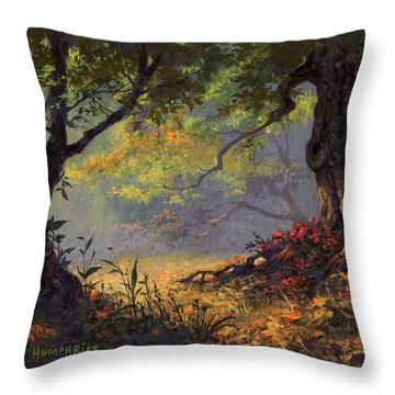 Autumn Shade Throw Pillow by Michael Humphries