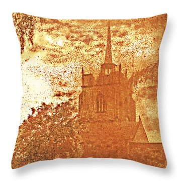 Throw Pillow featuring the digital art Autumn Shades by Fine Art By Andrew David