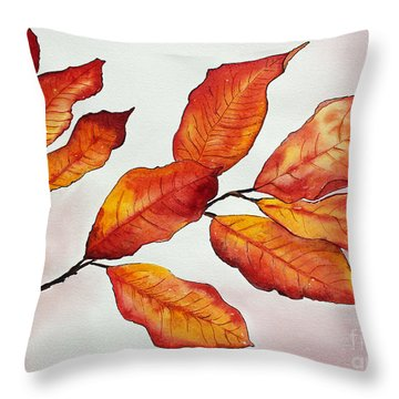 Autumn Throw Pillow by Shannan Peters