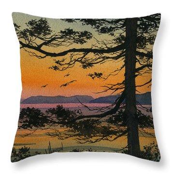 Autumn Shore Throw Pillow by James Williamson