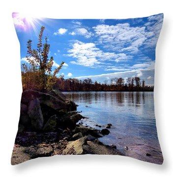 Autumn Shores Throw Pillow