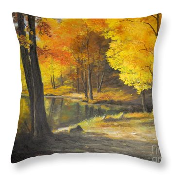 Autumn Silence  Throw Pillow