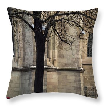 Autumn Silhouette Throw Pillow