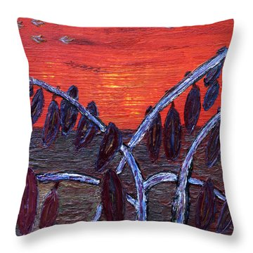 Autumn Silhouettes Throw Pillow