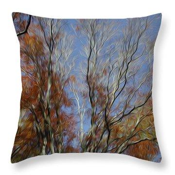Throw Pillow featuring the digital art Autumn Sky by Kelvin Booker