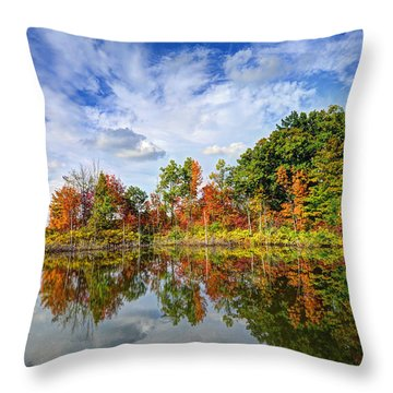 Autumn Sky Throw Pillow