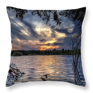 Autumn Sky Throw Pillow by Stelios Kleanthous