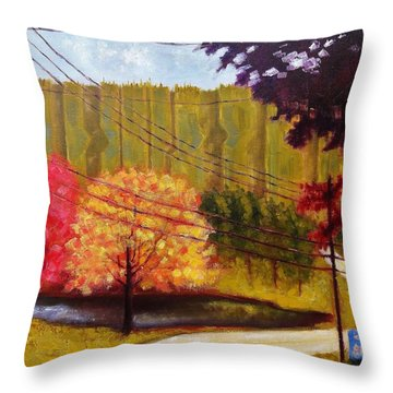 Autumn Slopes Throw Pillow