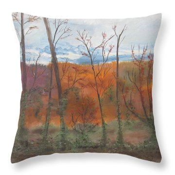 Throw Pillow featuring the painting Autumn Splendor by Diane Pape
