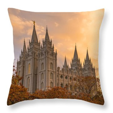 Throw Pillow featuring the photograph Autumn Splendor by Dustin  LeFevre