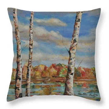 Autumn Splendor Throw Pillow by Heather Kertzer