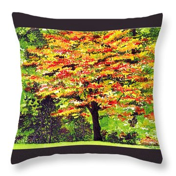 Autumn Splendor Throw Pillow by Patricia Griffin Brett