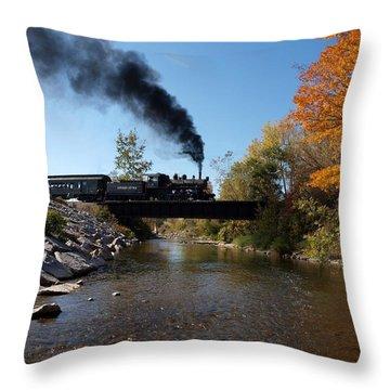 Autumn Steam Throw Pillow