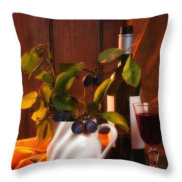 Autumn Still Life Throw Pillow by Amanda Elwell