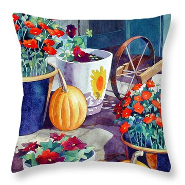 Autumn Still Life Throw Pillow by Mick Williams