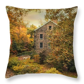 Autumn Stone Mill Throw Pillow