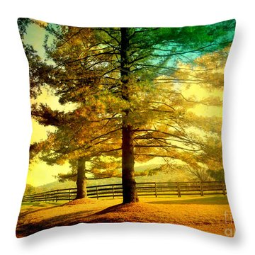 Autumn Stroll Throw Pillow