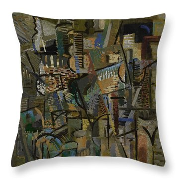 Throw Pillow featuring the digital art Autumn Studio by Clyde Semler