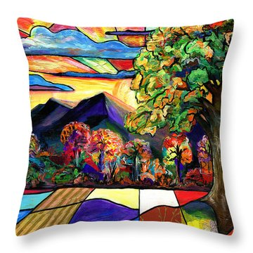 Autumn Sunrise Throw Pillow