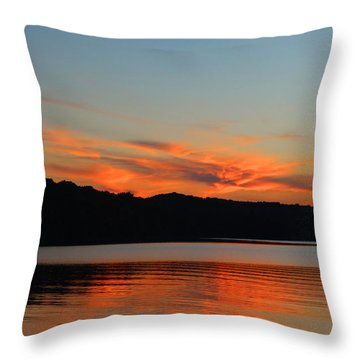 Throw Pillow featuring the photograph Autumn Sunset by Lorna Rogers Photography