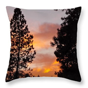 Autumn Sunset Throw Pillow by Michele Myers