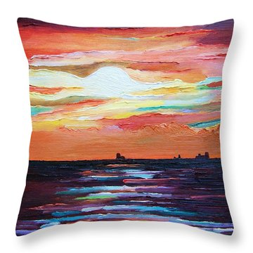 Autumn Sunset On The Baltic Sea Throw Pillow