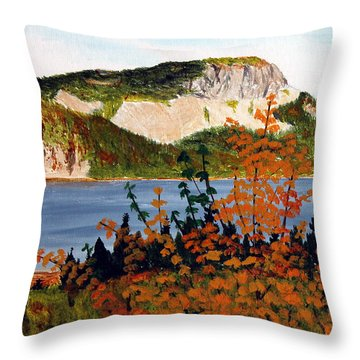 Throw Pillow featuring the painting Autumn Sunset On The Hills by Barbara Griffin